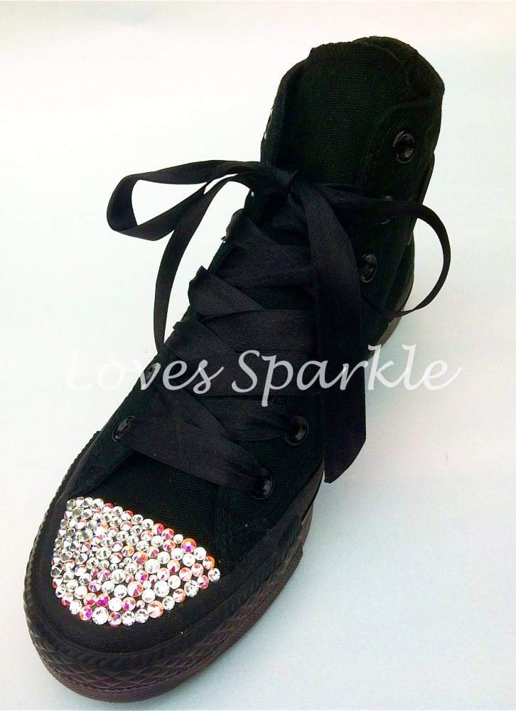97513e314be £80.00 – £85.00. SKU  EXCLUSIVE BLACK MIXED SWAROVSKI CRYSTAL CONVERSE (LOW  OR HIGHTOP) ...