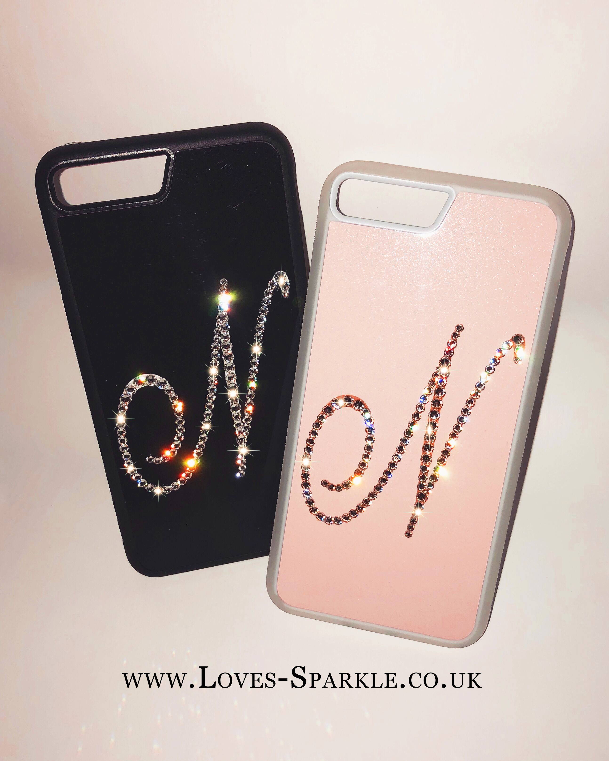 new arrival 47071 3b667 SWAROVSKI CRYSTAL INITIAL PHONE CASE (ANY COLOUR BACKGROUND)